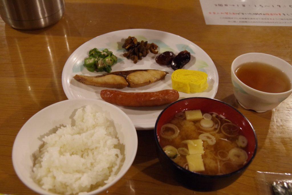 槍ヶ岳山荘の朝食