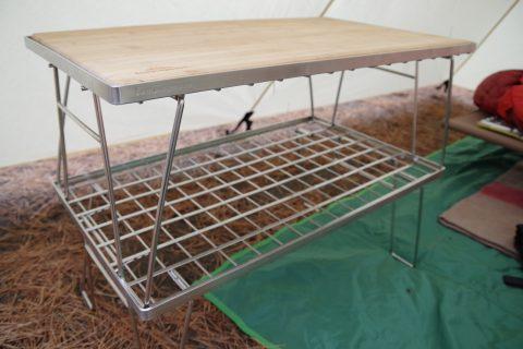 テーブルとしても収納棚としても使える、キャンピングムーン(CAMPING MOON)フィールドラック