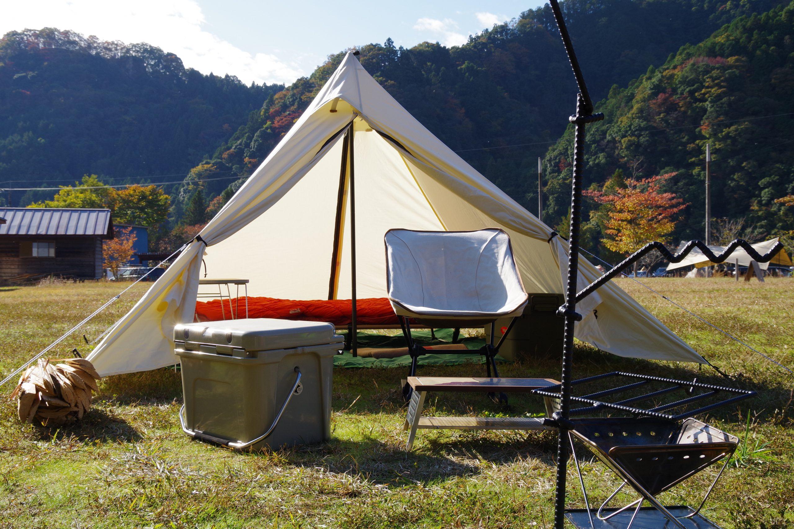 キャンプ村やなせで地元食材を楽しむパンダVC泊!