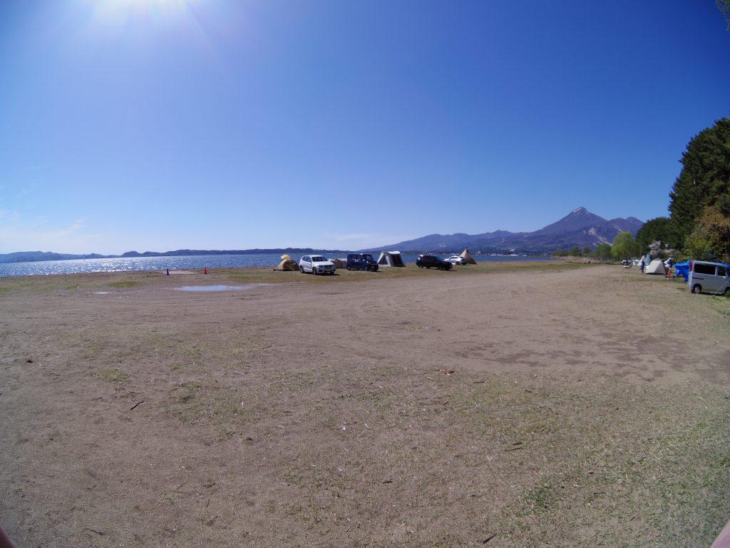 天神浜オートキャンプ場のキャンプサイト