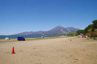圧倒的開放感の湖畔キャンプ!天神浜オートキャンプ場