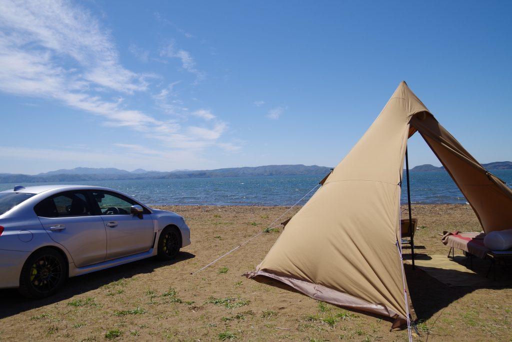 天神浜オートキャンプ場に設営したサーカスTC