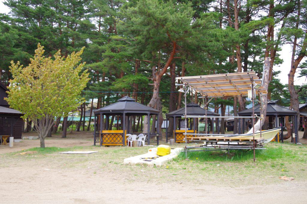 天神浜オートキャンプ場のロッジ
