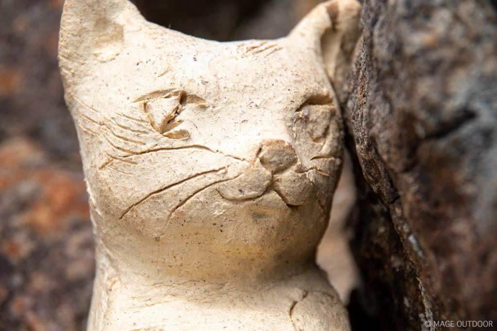 猫魔ヶ岳山頂の猫象