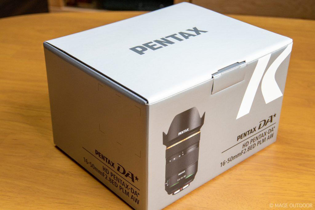 HD PENTAX-DA☆16-50mmF2.8ED PLM AWの外箱