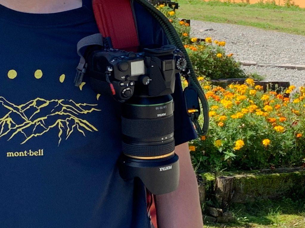 キャプチャーに装着したカメラ